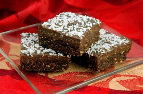 Raw Coconut Brownies   A Dash of Compassion