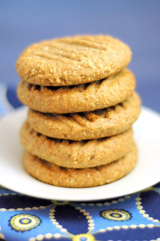 Flourless Almond Ginger Cookies | A Dash of Compassion