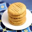 Flourless almond ginger cookies