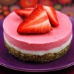 Raw strawberry dreamcake