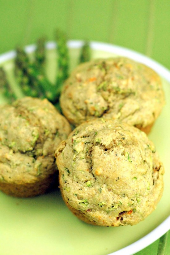 Asparagus Herb Muffins | A Dash of Compassion