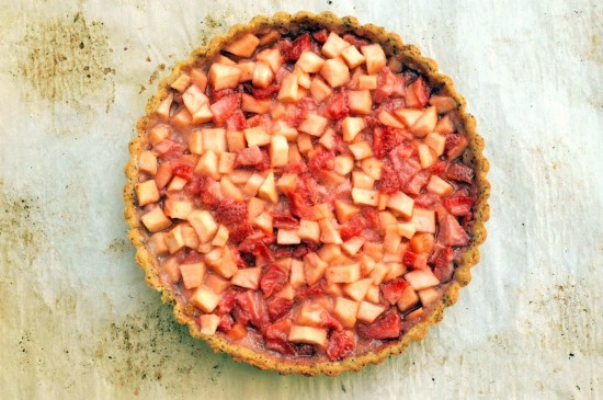 Strawberry Apple Tart | A Dash of Compassion