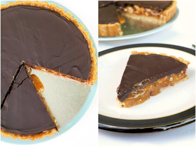 Peanut Butter Caramel and Chocolate Tart | A Dash of Compassion