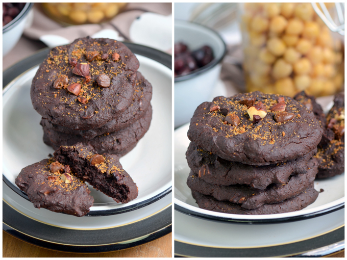 Flourless Mocha Bean Cookies | A Dash of Compassion