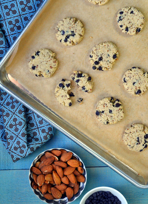 Gluten-free Chocolate Chip Almond Cookies | A Dash of Compassion