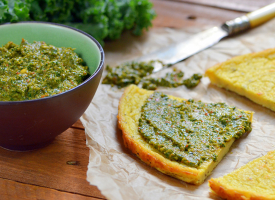 Socca with Kale Pesto | A Dash of Compassion