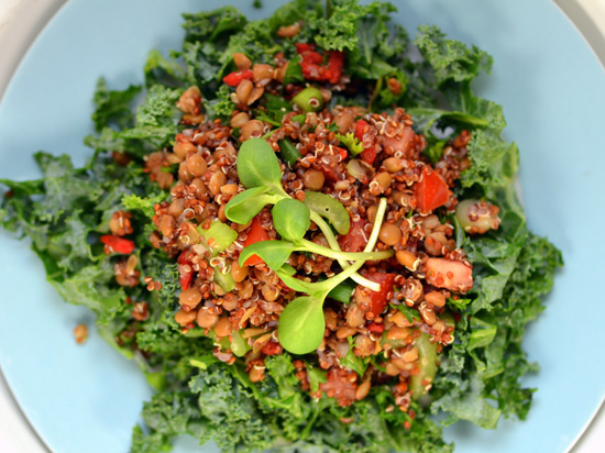 Kale & Quinoa Tabbouleh Salad | A Dash of Compassion