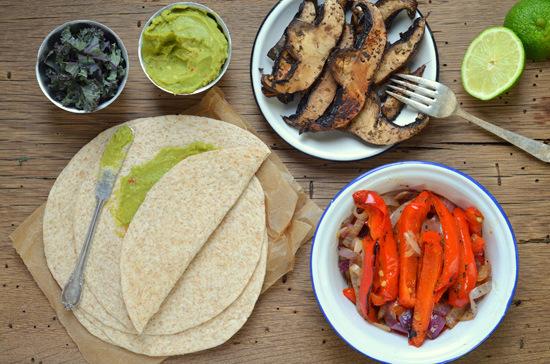 Roasted Portobello & Red Pepper Tacos | A Dash of Compassion