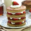 Gluten-free strawberry shortcake pancakes
