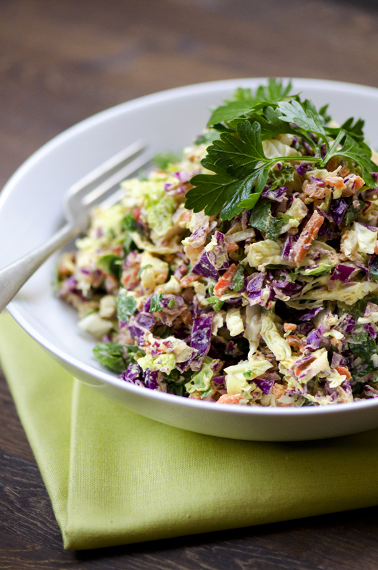 Cashew Curry Mayo with Cabbage Slaw | A Dash of Compassion