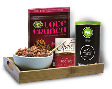 Love Crunch breakfast tray