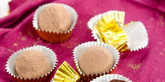 Maca Mint Chocolate Truffles