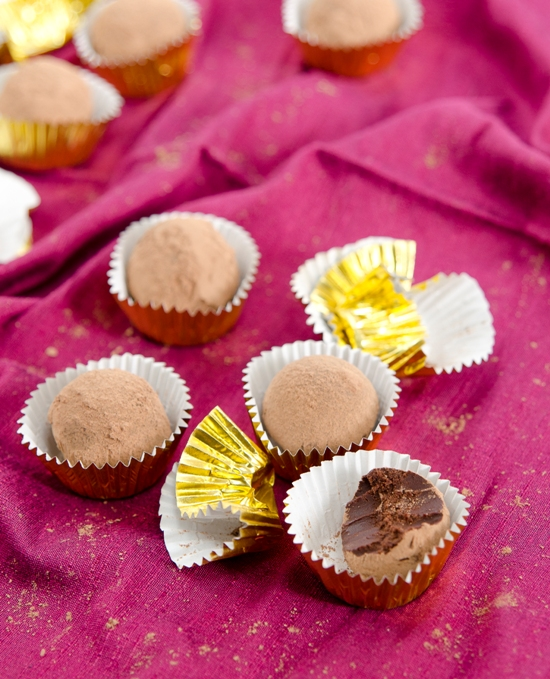 Maca Mint Chocolate Truffles