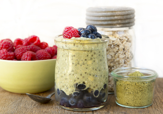 Superpower Matcha Vanilla Overnight Oats | A Dash of Compassion