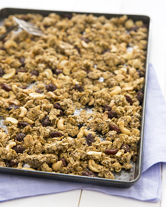 Curry Cashew Savory Granola from OATrageous Oatmeals | A Dash of Compassion