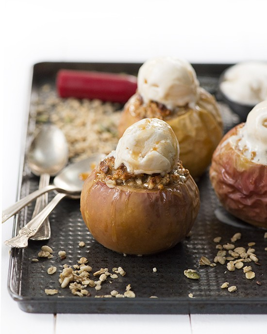 Easy Stuffed Baked Apples  | A Dash of Compassion