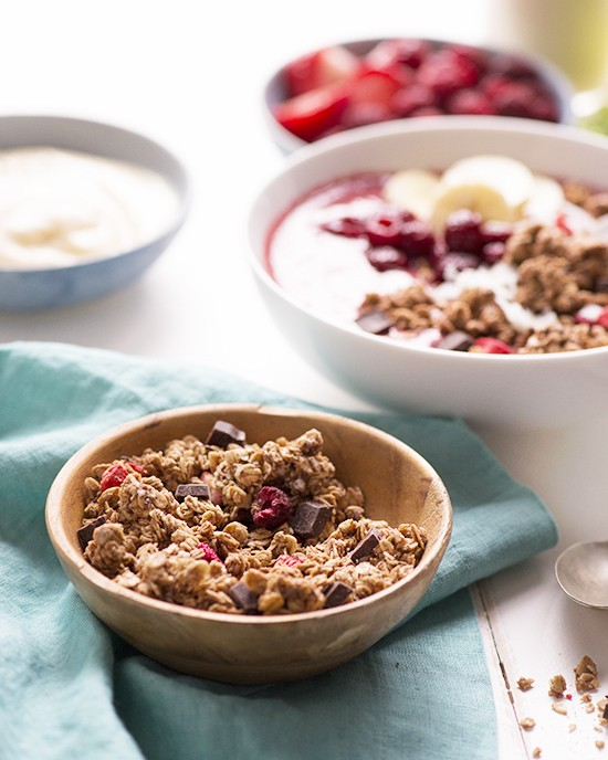 Invigorating Berry Love Smoothie Bowl with Nature's Path Love Crunch granola | A Dash of Compassion