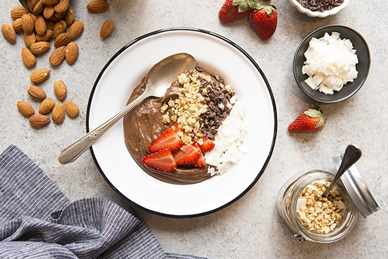 Chocolate Pudding Breakfast Bowl | A Dash of Compassion