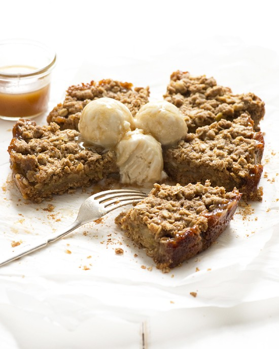 Caramel-Apple Crumble Wedges   A Dash of Compassion