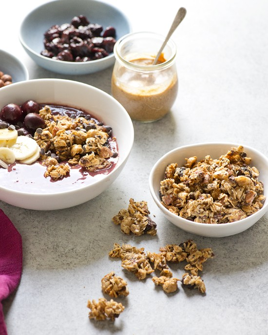 Roasted Hazelnut-Almond Granola Clusters | A Dash of Compassion