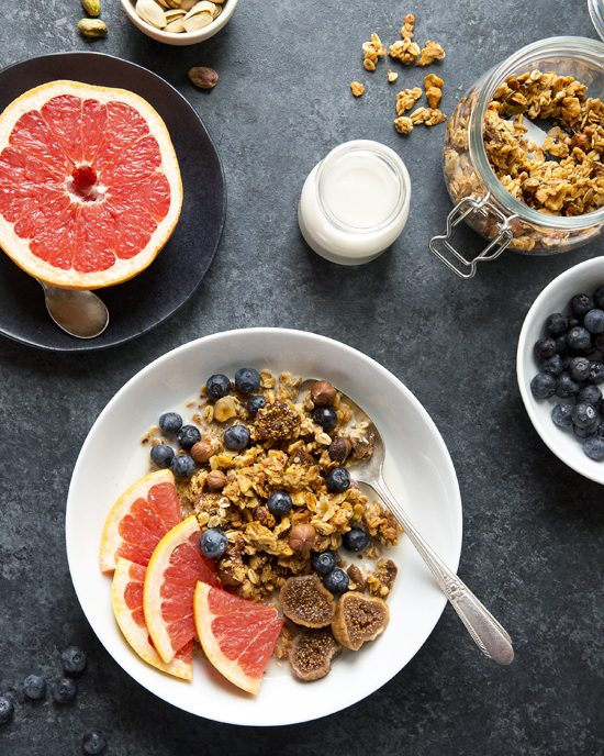 Fig and Grapefruit Granola | A Dash of Compassion