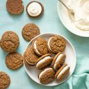 Pumpkin Gingerbread Sandwich Cookies | A Dash of Compassion