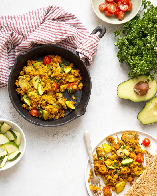 Heather Nicholds' Chickpea Scramble | A Dash of Compassion